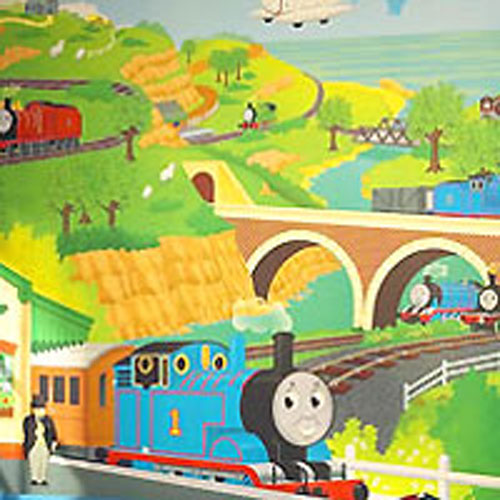 Thomas And Friends Giant Mural Tank Engine Wallpaper