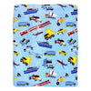 Cars Planes and Trains Throw Blanket