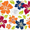 Tropical Flowers Orange Wall Decal Collection