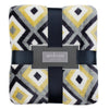 Yellow and Gray Diamond Throw Blanket
