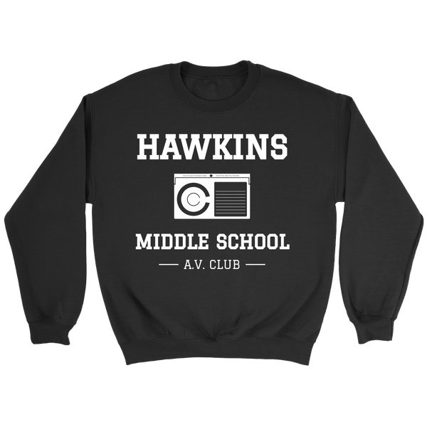 Hawkin Middle School A.V. Club - Stranger Things Inspired Sweatshirt - Betamax Tape