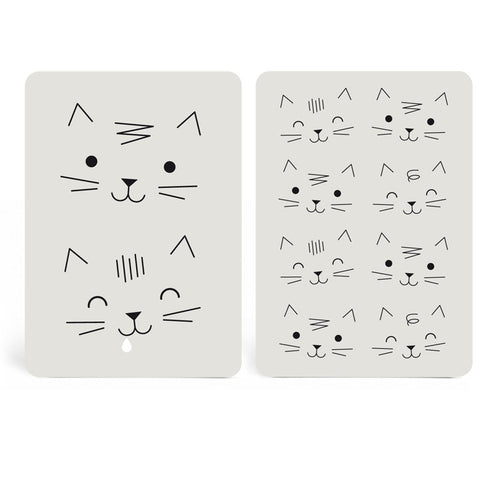 Lot de 2 cartes postales chat - Hariet et Rosie