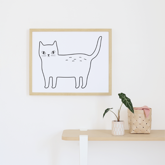 Affiche décorative Kitty - Hariet et Rosie