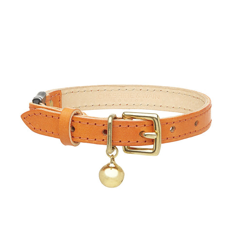 Collier en cuir orange collection color Pop - Hariet et Rosie