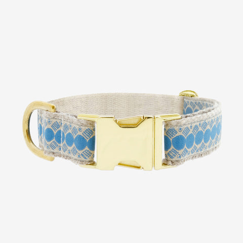 Collier You're A Stud Cream & Lake Blue - Hariet et Rosie