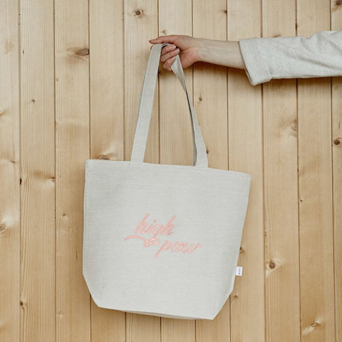 Tote bag en lin high paw