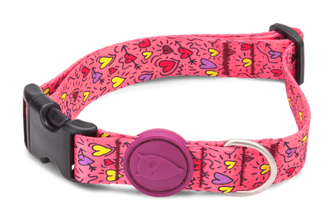 Collier pour chien Pink Think