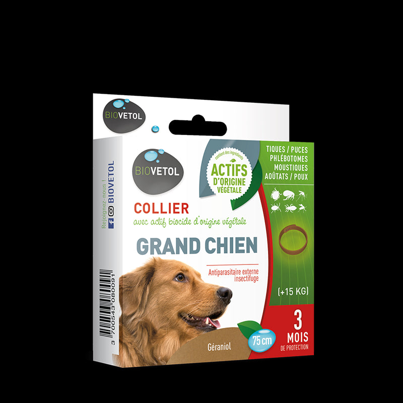 Collier anti-puces Grand Chien Biovetol
