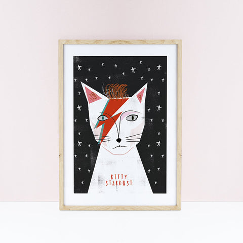 Affiche chat Kitty Stardust