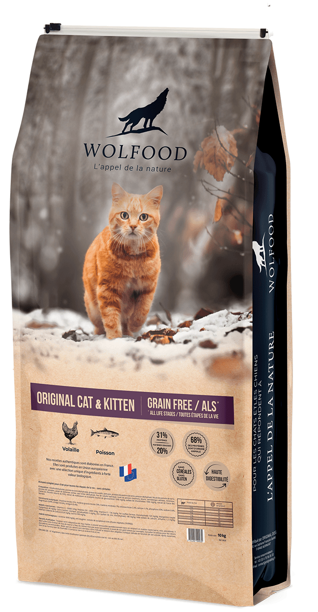Croquettes Wolfood chat Original Cat & Kitten
