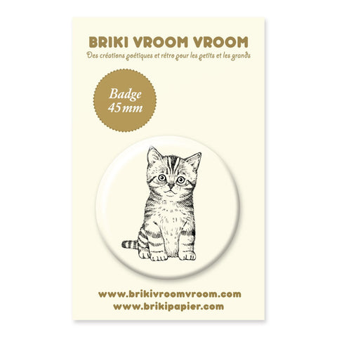 Badge chaton - Hariet et Rosie