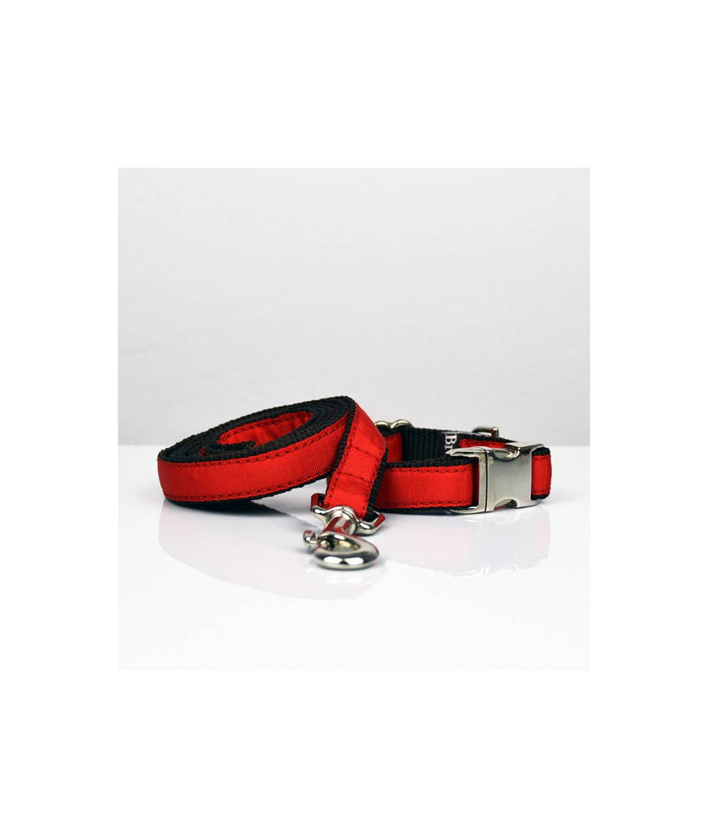 Ensemble Collier + laisse Solid red - Hariet et Rosie