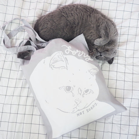 Tote Bag Sorry Not Sorry Cat