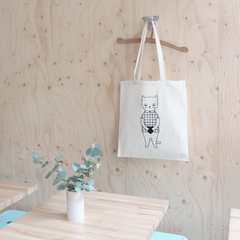 Tote bag Mr Cat - Hariet et Rosie