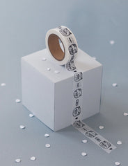 Washi tape chat (grumpy cat) - Hariet et Rosie