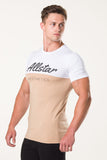 Allstar Aesthetics T Shirt - White/Tan