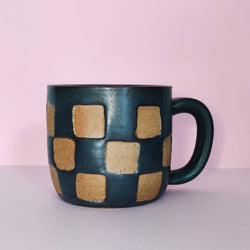 Checkerboard Mug 8oz