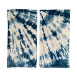 Indigo Dyed Shibori Tea Towels