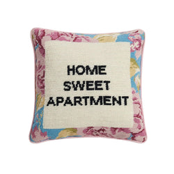 Home Sweet Apartment Needlepoint Pillow