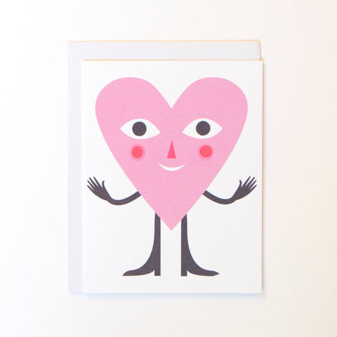 Hugging Heart Card