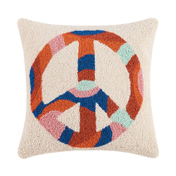 Peace Sign Hook Pillow
