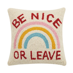 Be Nice Or Leave Hook Pillow