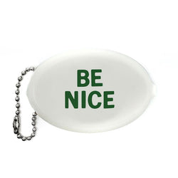 Be Nice Coin Wallet Keychain