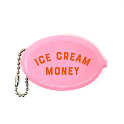 Ice Cream Money Coin Wallet Keychain