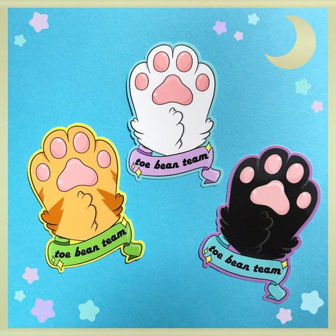 Toe Bean Team Sticker