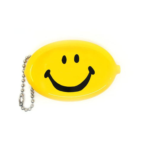 Yellow Smiley Coin Wallet Keychain