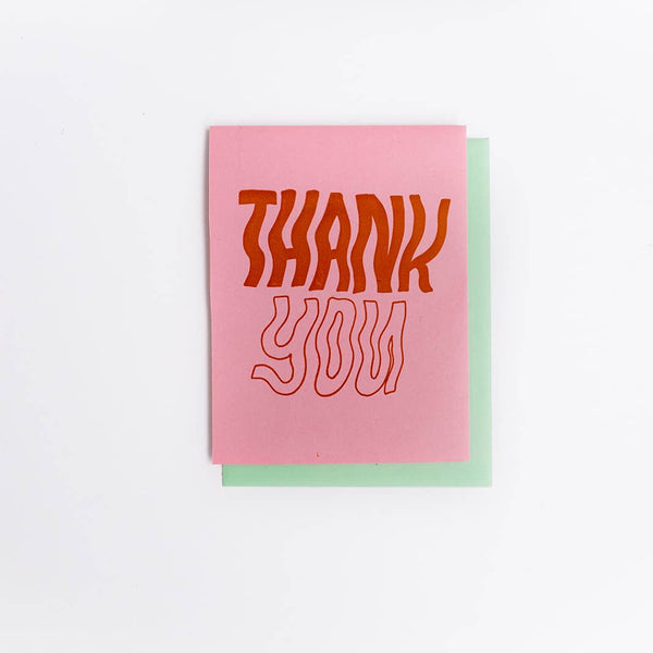 Wavy Letters Thank You Card