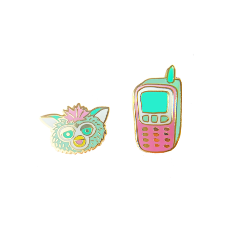 Furby 90's Cell Phone Earrings