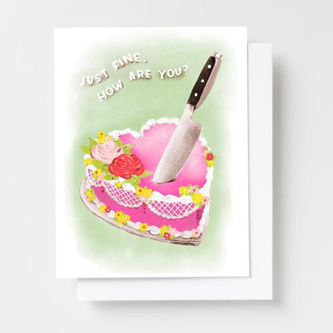 Just Fine How Are You Cake Card