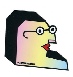 Funny Face with Glasses Sticker