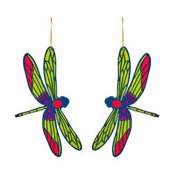 Large Dragonfly Hoop Earrings
