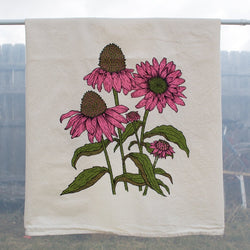 Flower Tea Towel - Echinacea