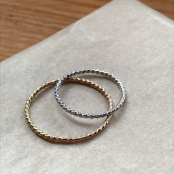 Twists/Dots Stacker Ring