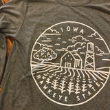 Iowa Hawkeye State Long Sleeve Tee