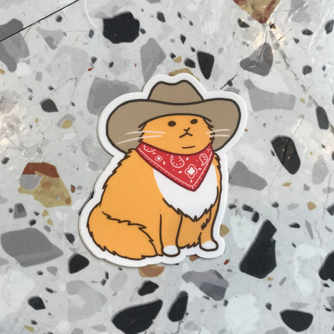 Meowdy Sticker