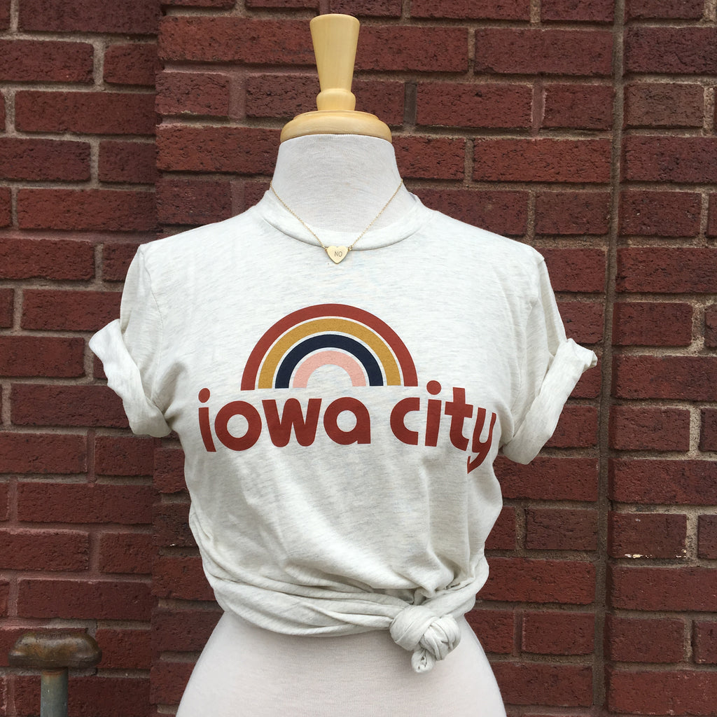 Iowa City Rainbow Tee