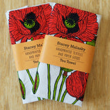 Flower Tea Towel - Poppies
