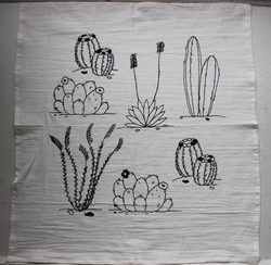 Desert Plants Tea Towel