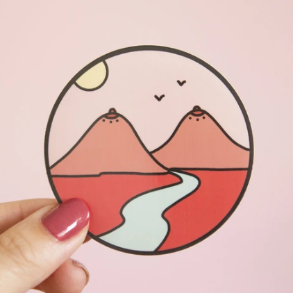 Boob Mountains Sticker
