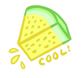 Cool Slice Sticker