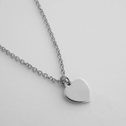 Silver Charm Necklace - Heart