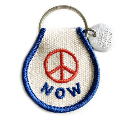 Peace Now- Patch Keychain
