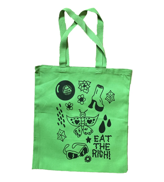 Eat The Rich Canvas Tote Bags