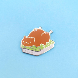 Turkey Cat Pin
