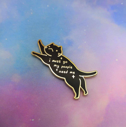 My People Need Me Cat Pin