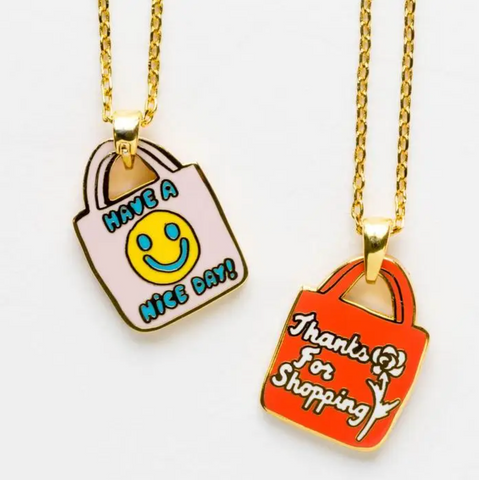 Have A Nice Day Double-Sided Pendant